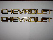 CHEVROLET EMBLEMS exterior trim letters Original or custom application