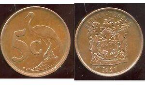 AFRIQUE DU SUD 5 cent 1997