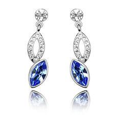 Meravigliosi Argento & Blu Reale Goccia D'acqua Brillante Strass