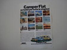 advertising Pubblicità 1979 CAMPER FIAT SHANGO/ANDAL/KAVIR