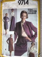 Vintage Simplicity Pattern Blouse Skirt Jacket 16 UNCUT