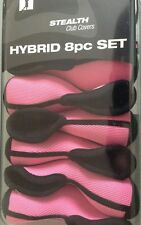 Pink Stealth Hybrid Headcover Head Cover Complete Set 3 4 5 6 7 8 9 Pw