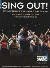 Sing Out! Book 3 Sheet Music Book with Audio 5 Modern Pop Songs SAT Choir