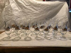 20 Different Hard Rock Cafe hurricane glasses Lot STGBX1