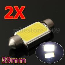 Pair 39mm 6W 6000K C5W Festoon Bulb No Error COB LED Number License Plate Light