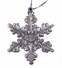 Metal Snowflake Christmas Ornament Holiday Decoration