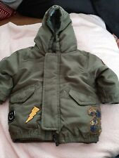 Baby Boys thick Jacket green Age 3-6 months next #b90