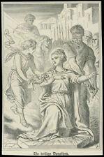 santino litografia 1800 S.DOROTEA V.M.