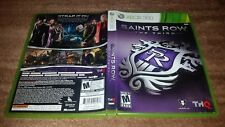 SAINTS ROW THE THIRD ORIGINAL RELEASE MICROSOFT XBOX 360 EX CONDITION COMPLETE!