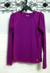 Champion Activewear Top Size M Purple Long Sleeve Round Neck