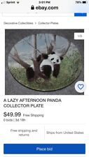 A Lazy Afternoon Panda Collector Plate including Certificate of Authenticity