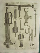 1797 GEORGIAN PRINT ~ PNEUMATICS ~ SECTION OF CUTHBERTSONS AIR PUMPS VARIOUS