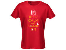 Keep Calm And Scare On Womens Halloween T-Shirt (12 Colours)