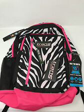 "New, NWT Trans JanSport Megahertz Backpack Pink Animal Print Zebra 15"" laptop"