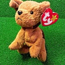 NEW Ty Beanie Baby Tuffy The Terrier Dog 1996 PVC Plush Toy MWMT - FREE SHIPPING