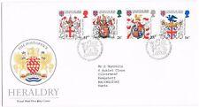1984 - Heraldry Fdc, Philatelic Bureau pictorial handstamp