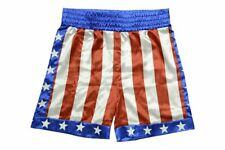 Apollo Creed Boxing Trunks Shorts Rocky Balboa Adonis Johnson Movie Stallion