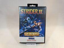 STRIDER II 2 SEGA MASTER SYSTEM 8 BIT PAL EU EUR ITA ITALIANO ORIGINALE