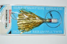 bomber bug eye duster king rig saltwater grade 1.5oz gold 6/0 hooks SS wire