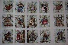 "Elizabeth's Studio, 12 Blocks Panel Beautiful Bird houses, ""Housing Boom"""