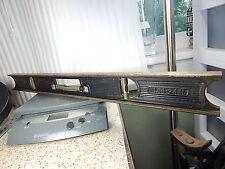 Vintage Cast Iron Machinist & Carpenter Level, Stanley No 36-24 In,