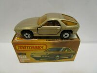 1979 MATCHBOX SUPERFAST NO.59 PORSCHE 928 TAN W/MATTE BLACK BASE **NEW IN BOX**