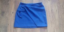 Zara Electric Blue Mini Skirt with Tie Knot Size Small