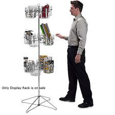 "New Retail 12 Jar Spinner Display Rack with sign holder 63""H, 19"" diameter"