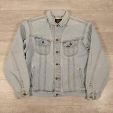 Mens LEE Vintage Bleached Blue Denim Jacket XL #D5605