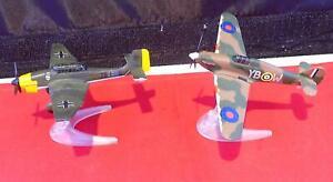 Diecast Corgi Toys Modern Issue WW2 Hurricane Fighter & Stuka JU87 Bomber Plane