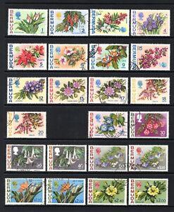 BERMUDA 1970 FLOWERS sg249-265a (less sg260a) FINE USED SET CAT £50