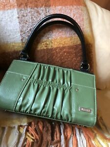 """Miche Purse Shell Cover Green Faux Leather """"Erica"""" -Mint!"""