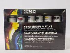 Golden Artist Colors 910 Principal Professional Heavy Body Acrylic Set 6pc