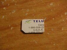 USED TELUS NANO SIM CARD RESTORING TEST CELL PHONES BOOT BYPASS UNLOCK UNLOCKING