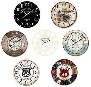60cm Clock Large Wall Clock Vintage Rustic Wooden luxury art vintage
