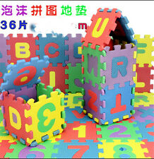 36pcs Baby Infant Kids Alphanumeric Early Educational Puzzle Bubble Blocks Toy
