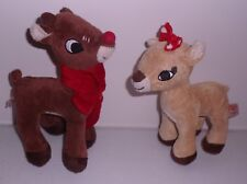 Vintage Rudolph the Red Nosed Reindeer & Clarice plush by Dan Dee