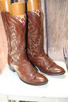 Dan Post 9.5 D Brown Leather Men's Cowboy Western Boots