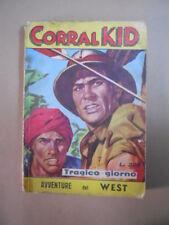 CORRAL KID Collana Excelsior n°7 1963 editrice DNP Western  [G330] RARO!