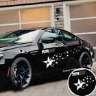 2x Car White Star Graphics Sticker Decal Racing Long Stripe Side Body Decoration