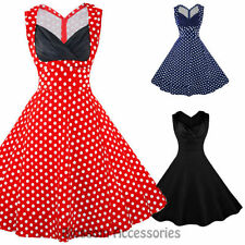 Retro Polka Dot Sleeveless Dresses for Women