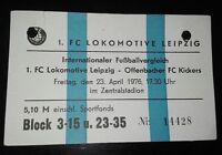 Ticket 23.4.76 1.FC Lok Leipzig Kickers Offenbach DDR Oberliga Eintrittskarte