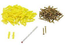 ROLSON 48477 201 Pcs  Wood Screw and Wall Plug Assortment Plus Masonry Drill Bit