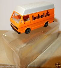 MICRO WIKING HO 1/87 VW LT 28 COMBI VAN FOURGON ENTREPRISE HEBEL in box