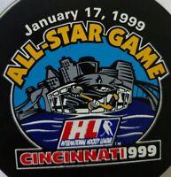 1999 ALL STAR GAME CINCINNATI CYCLONES VINTAGE IHL GAME PUCK BY PUCK WORLD