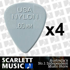 4 x Jim Dunlop Nylon Standard Greys .60mm Guitar Picks Plectrums 0.60 Grey