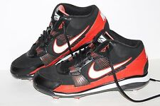 Nike Air Throwback SC Football Cleats, #396223-018, Blk/Red/Wht, Mens US 12