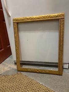 Vintage ~ Large ~ GOLD ~ Picture Frame ~ BAROQUE ~ Wooden ~ Textured ~ Floral