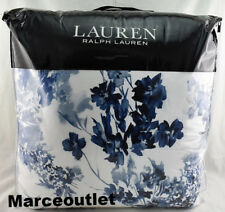 Ralph Lauren Flora FULL / QUEEN Comforter Set With Shams Blue