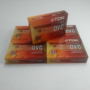 TDK Mini DVC Superior 60 Minutes New Sealed Digital Video Blank Cassette Tape